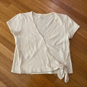 Madewell Crossover Blouse in White